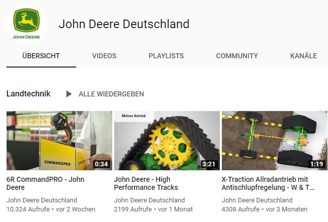 Social Media B2B Marketing Youtube Best Practice John Deere