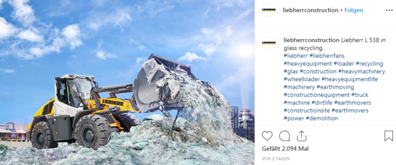 Social Media B2B Marketing Instagram Best Practice Liebherr